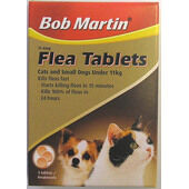18 x Bob Martin Flea Tablets Cats Small Dogs & Puppies Tablets