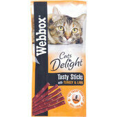 72 x Webbox Cat Sticks Turkey & Lamb Sticks