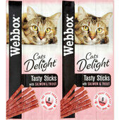 72 x Webbox Cat Sticks Salmon & Trout Sticks