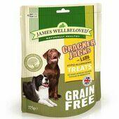James Wellbeloved Grain Free Crackerjacks Lamb Dog Treats - 225g