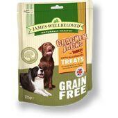 James Wellbeloved Grain Free Crackerjacks Turkey Dog Treats - 225g