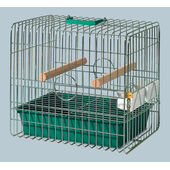 Savic Coco Travel Parrot Cage Zinc Plated 43.5x33x40cm -Green