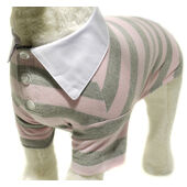 Vital Pet Products Dog Rugby T-shirt in Pink & Grey