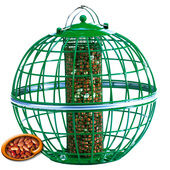 The Nuttery Squirrel & Predator Proof Globe Nut Feeder Ocean Green