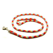 KJK Ropeworks Braid Clip Lead With Rubber Stop Multi Colour Rainbow 8mm X 120cm
