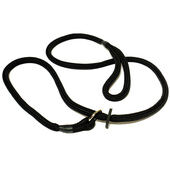 KJK Ropeworks Braided Slip Lead With Rubber Stop Black 8mm X 150cm