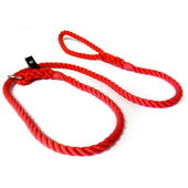 KJK Ropeworks Slip Lead With Leather Stop Red