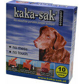 Kaka-sak Disposable Poop Scooper (Dispoz-a Scoop) Cardboard Handle+plastic Bag (Pack Of 10)