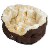 HappyPet Yap Oval Cream & Brown Dog Bed Peluchi Girrafe