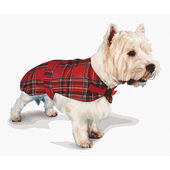 Pennine Tartan Fur Lined Coat - Red