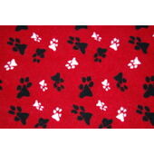 AniMate Double Stitched Fleece Blanket - Red