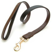 Vital Pet Products Yacare Leather Lead Brown