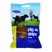 6 x Hollings Pig Ear Strip Carrier Bag 500g