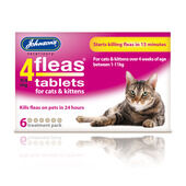 6 x Johnson's 4fleas Cats And Kittens 6 Treatment Pack