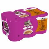 24 x Whiskas Can Jelly Poultry Selection 390g