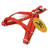 Mac Leather One Touch Harness Red 15mm X35-60cm