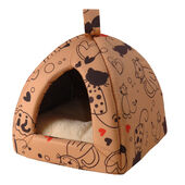 Cosipet Scatty Cat Igloo Bed- Tan