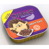 17 x Spike's Meaty Feast Hedgehog Food 100g