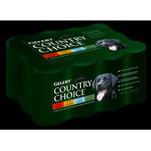12 x 400g Gelert Country Choice Meat-In-Jelly Wet Dog Food Variety Pack