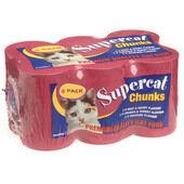 4 x Kennelpak Supercat Chunks Multipack 6 X 400g