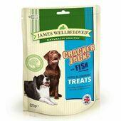 James Wellbeloved Crackerjacks Fish Dog Treats - 225g