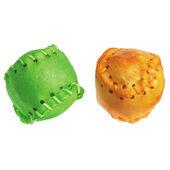 10 x Good Boy Green & Orange Baseball Munchy Dog Chew - 7.5cm (3