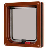 Cat Mate Lockable Cat Flap Brown 16.5x17.4cm