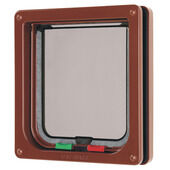Cat Mate 4 Way Locking Cat Flap Brown 16.5x17.4cm