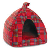 Cosipet Tartan Igloo Bed Red 41cm (16