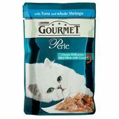 24 x 85g Gourmet Perle Pouch Tuna & Shrimp