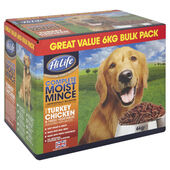 HiLife Complete Moist Mince Dog Turk Chick Smoky Bacon 6kg