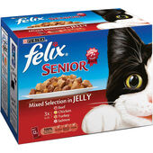 4 x Felix Pouch Senior Selection in Jelly 12x100g