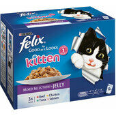 48 x Felix Pouch As Good As It Looks Kitten Multipack 100g