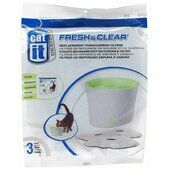 Catit Fresh & Clear Water Fountain Replacement Foam/carbon Cartridge Small