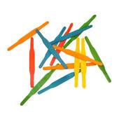 HappyPet Parrot Toy Wooden Drop Stix Refill