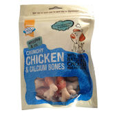 8 x Good Boy Waggles & Co Crunchy Chicken & Calcium Bones 100g