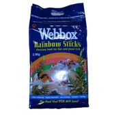 Webbox Rainbow Sticks Floating  Koi & Pond Fish Food