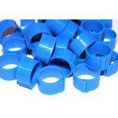 Tusk Clic Leg Ring For Adult Hens Extra Light Breed Blue 12mm 100pack
