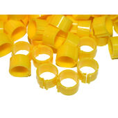 Tusk Clic Leg Ring For Adult Hens Med/heavy Breed Yellow 16mm 100pack