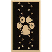 Pet Rebellion Stop Muddy Paws Single Print Black 45x100cm (18x39