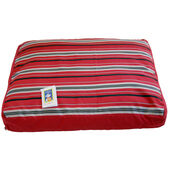 AniMate Cotton Fibre Bed Metallic Stripe Red
