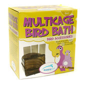 HappyPet Plastic Multicage Bird Bath