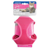 Ancol Soft Harness & Lead Pink