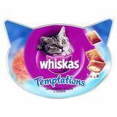 8 x Whiskas Temptations Salmon 60g