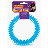 Pennine Mighty Mouth Blue Dental Ring Dog Toy 15cm