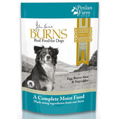 6 x 400g Burns Penlan Farm Complete Egg, Rice & Veg Wet Dog Food Pouch