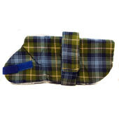 Pennine Tartan Fur Lined Coat Blue