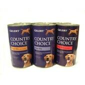 6 x 1200g Gelert Country Choice Tripe Mix Wet Dog Food Variety Pack
