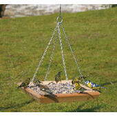 C J Wildlife Square Hanging Bird Feeding Table (FSC certified)