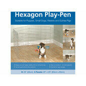 Rosewood Options Hexagon Play Pen 6x 25\